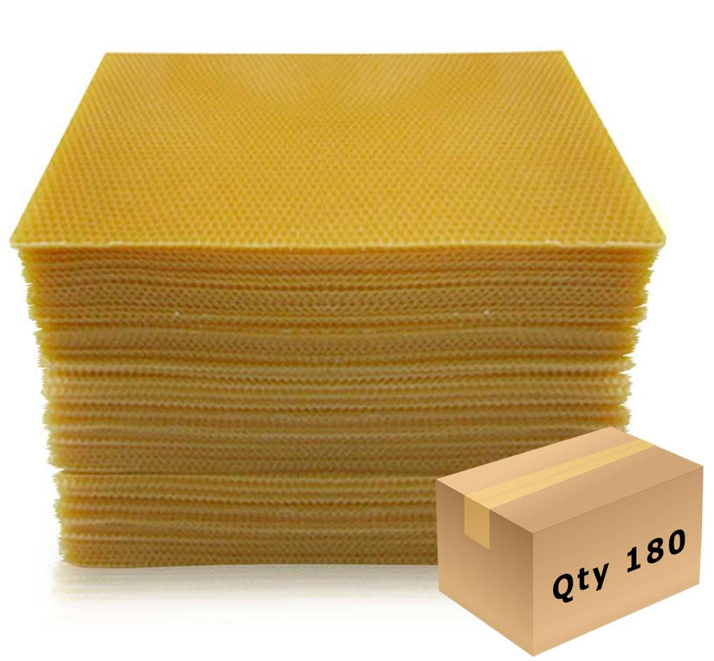 Bees Wax Foundation Full Depth Carton approx. 180 sheets
