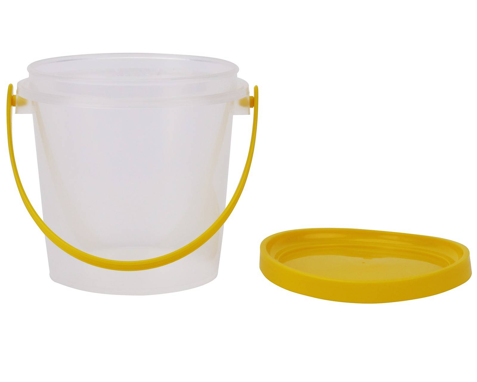 Plastic Honey Bucket 800ml/1kg - Carton 180pcs, Jar and Lid with Handle