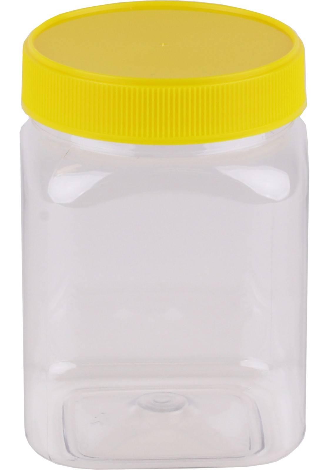Carton of 120pc Honey Jars - 1kg size - Square Yellow Lid