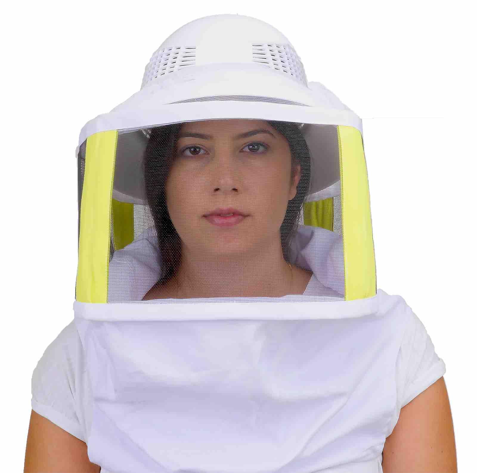 Beekeeping Plastic Helmet & Veil - with Shoulder Straps