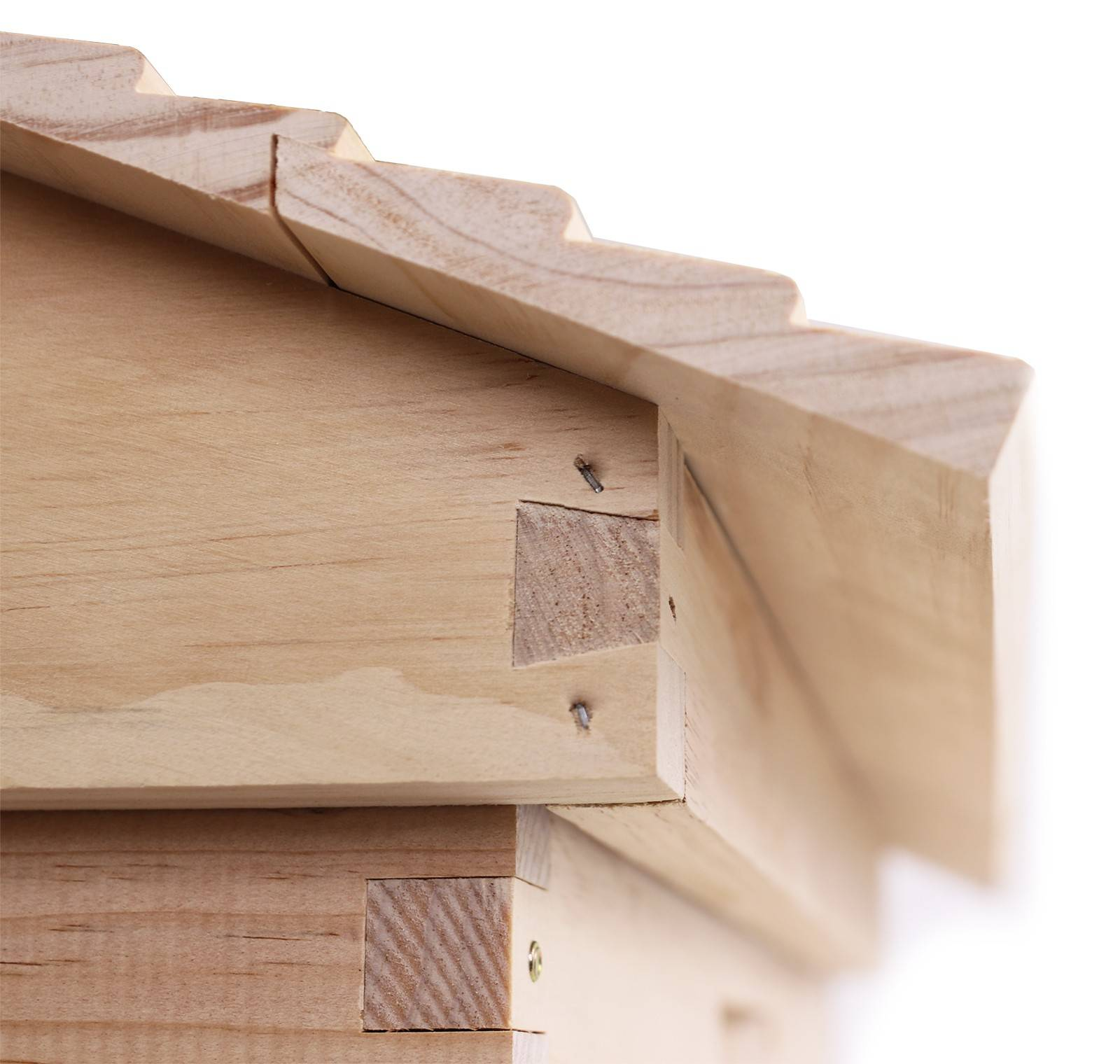 Gabled Pine Telescopic Lid with Round Ventilation & Inner Cover for 10 Frame Beehive