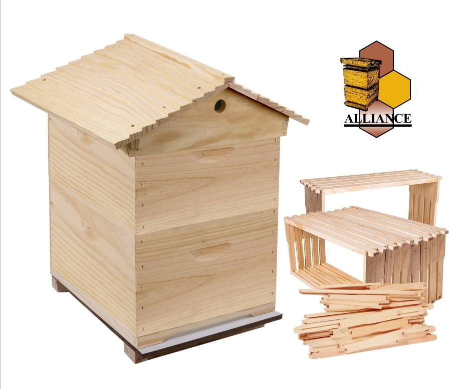 Complete Gabled Lid -  10 Frame Full Depth double Rebated Beehive with 20 Frames, Inner cover and Australian made base
