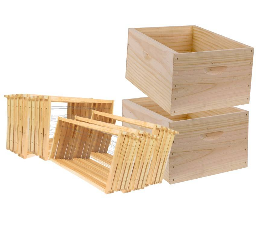 10 Frame Double Level Full Depth Rebated Beehive with Assembled Frames, Assembled Lid & Fully Assembled Australian Made Base