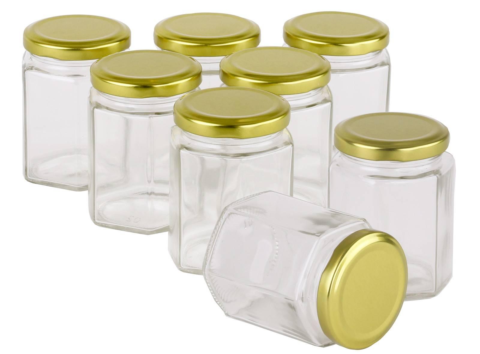 360 pcs Honey Jars 180ml / 250gm size Hexagonal Jars with Gold Lid