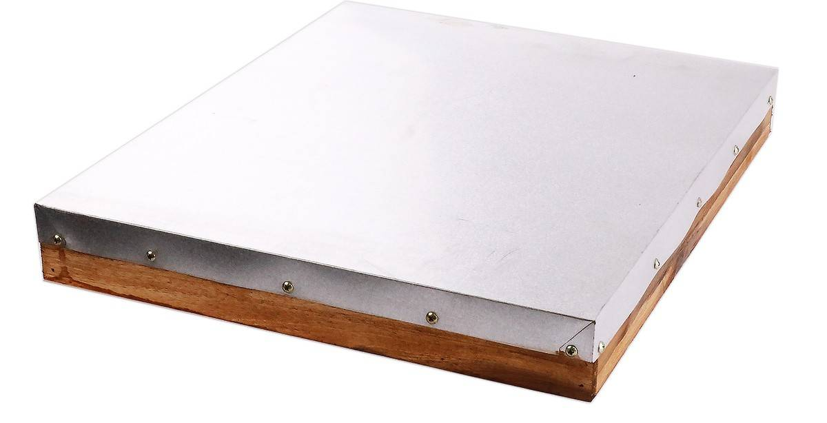 Double Level Full Depth Acacia Beehive, 8 Frame, No Frames.  Assembled Lid & Base