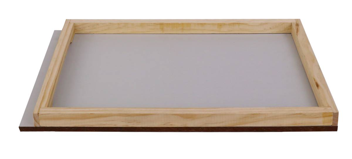Assembled Australian Beehive Base - No Cleats - for 8 Frame Base with Solid Weathertex Base Board