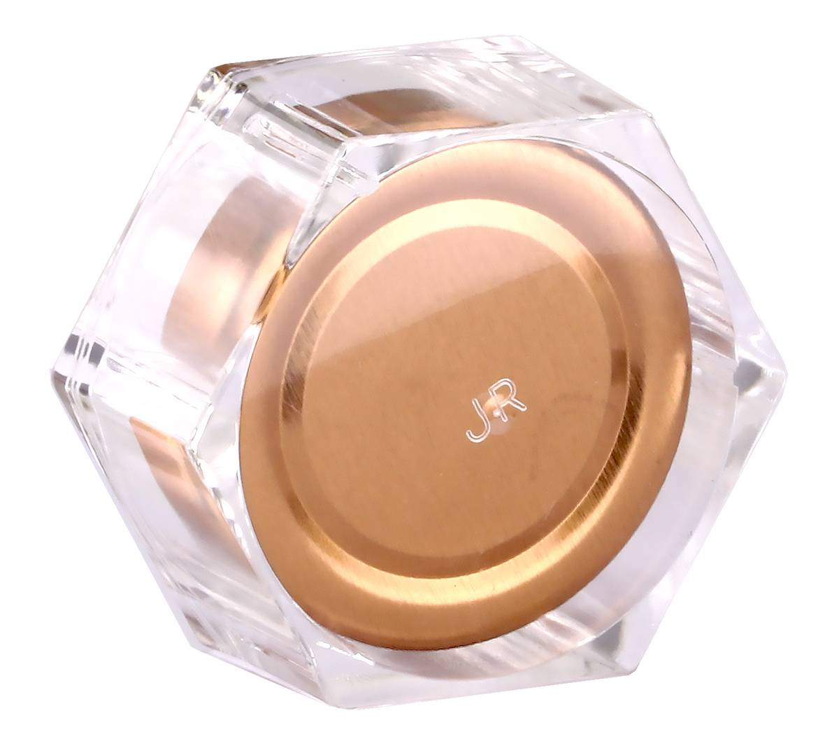 Deluxe Honey Jar 280ml / 400gm size Hexagonal with Silver or Rose Gold lid