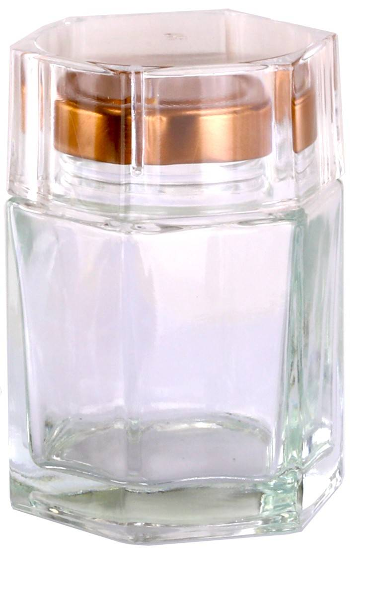 Deluxe Honey Jar 180ml / 250gm size Hexagonal with Silver or Rose Gold lid