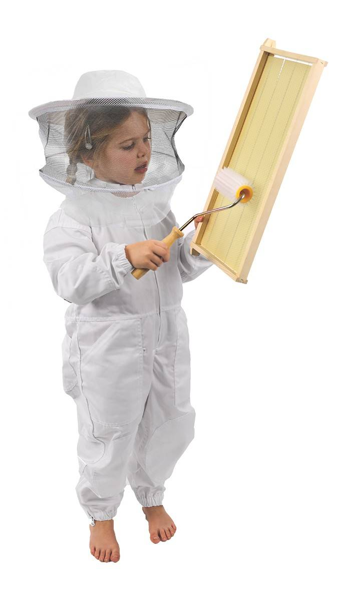 Kids Cotton Bee Suit with Wide Brim Hat