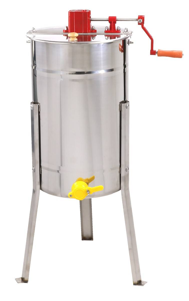 2 Frame Manual Honey Extractor with Stainless Basket  - 2020 Model