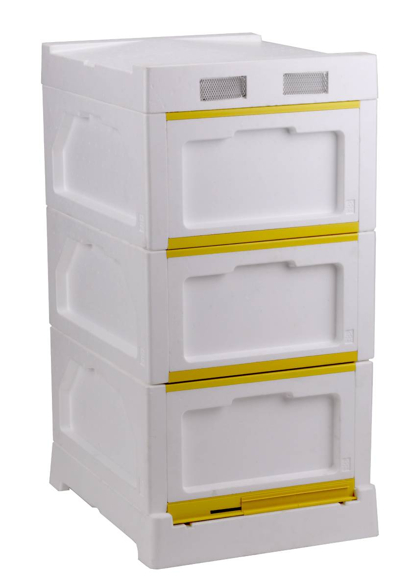 17 in 1 Polystyrene Triple Hive Beekeeping Kit - 10 Frame