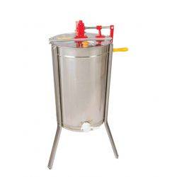 Honey Extractor - Premium 3 Frame Manual with NEW Angled Flow Easy Pour design