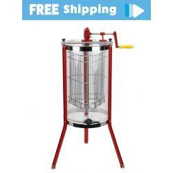 3 Frame Deluxe Clear Acrylic Honey Extractor with High Grade Gear Set, Stainless Honey Gate & Long Legs