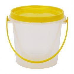 Carton of 180pcs Plastic Honey Bucket 800ml/1kg Complete With Anti-Tamper Handle Lid