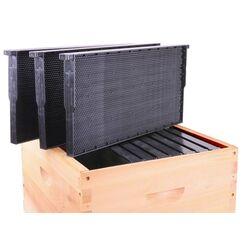Plastic Frame and Foundation Full Depth 100 Pack.  Bulk purchase of 1pc Plastic Frame with Foundation