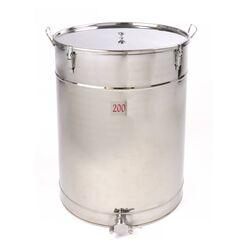 Honey Storage Tank 200kg - Threaded Stainless Steel Honey Gate
