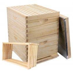 10 Frame Double Level Full Depth Beehive with Assembled Frames, Assembled Lid & Fully Assembled Base