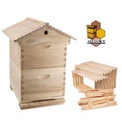 Complete Gabled Lid -  8 Frame Full Depth double Alliance Beehive with 16 Frames & Inner cover