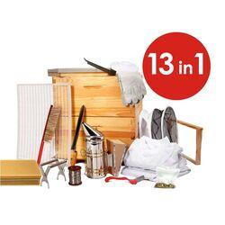 13 in 1 Deluxe Beekeeping Acacia Apiarist Kit - 8 Frame