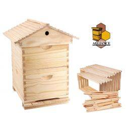 Complete Gabled Lid -  8 Frame Full Depth double Beehive with 16 Frames & Inner cover