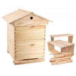 Complete Gabled Lid -  10 Frame Full Depth double Beehive with 20 Frames & Inner cover