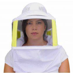 Beekeeping Plastic Helmet & Veil - with Shoulder Straps
