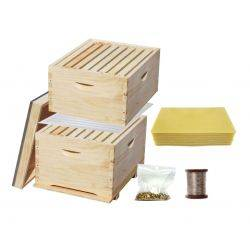 5 in 1 Essentials Complete 20 Frame Double Level Bee Hive Starter Kit