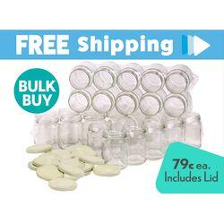 Bulk Buy 480 pcs Honey Jars - 250ml / 350gm size - Round Glass Jars with Cream Lids