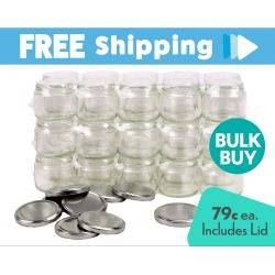 Carton 500pcs Honey Jars - 300ml / 420gm size - Round Glass Jars with Silver Lids