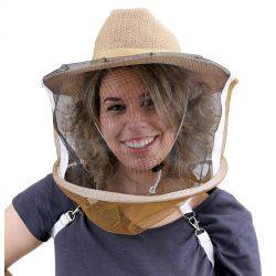 Beekeeping Cowboy Hat & Veil - with Shoulder Straps