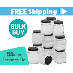 360 pcs Honey Jars 280ml / 400gm size Square Jars with Black Lid