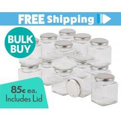 360 pcs Honey Jars 280ml / 400gm size Square Jars with Silver Lid