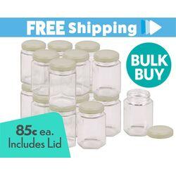 360 pcs Honey Jars 280ml / 400gm size Hexagonal Jars with Cream Lid
