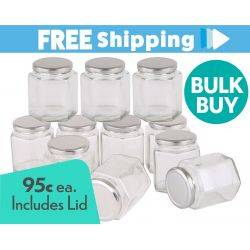 360pcs Honey Jars 370ml / 500gm size Hexagonal Jars with Silver Lid