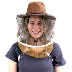 Beekeeping Ranchers Hat and Veil - with Shoulder Straps