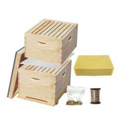 5 in 1 Essentials Complete 16 Frame Double Level  ACACIA Beehive Starter Kit - 8 Frame Size