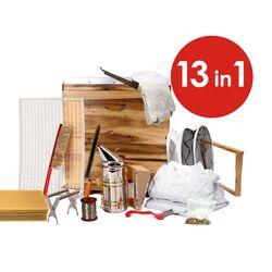 13 in 1 Deluxe Beekeeping Acacia Apiarist Kit - 10F