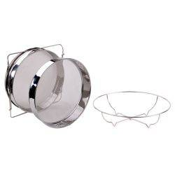 Expandable Large Double Strainer with Stand 32cm - 304 Stainless Steel
