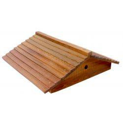 Gabled Cedar Wood Telescopic Lid with Round Ventilation & Inner Cover for 10 Frame Beehive